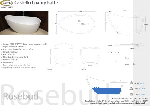 ROSEBUD FREESTANDING LUXURY DESIGNER BATH