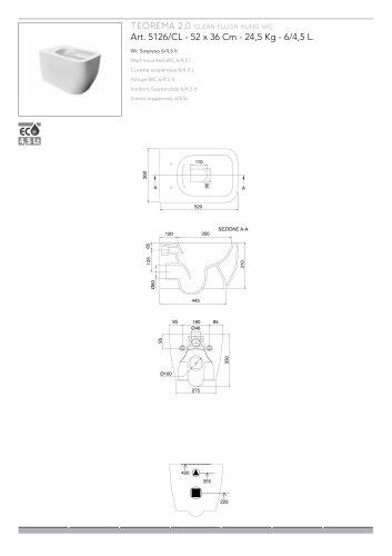 TEOREMA 2.0 CLEAN FLUSH HUNG WC