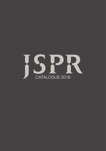JSPR 2018/2019 Catalogue