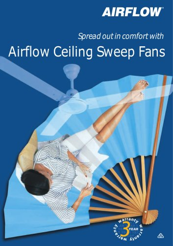 Airflow eiling Sweep Fans