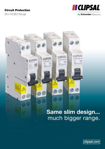 Circuit Protection Slim RCBO Range