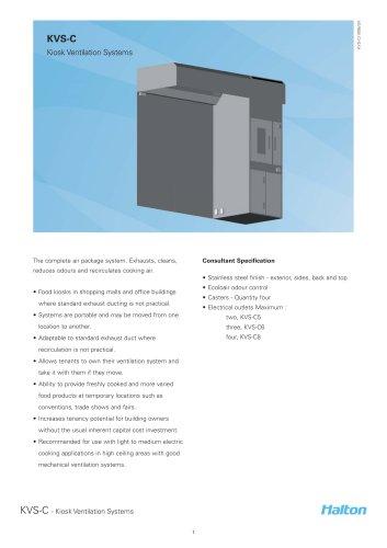 KVS-C Kiosk Ventilation Systems