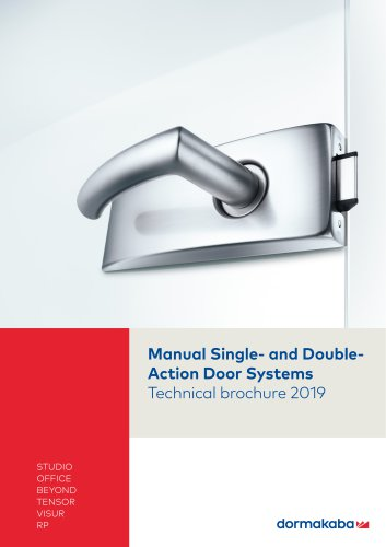 Manual Single- and Double- Action Door Systems Technical brochure 2019