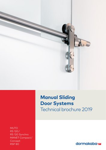 Manual Sliding Door Systems Technical brochure 2019