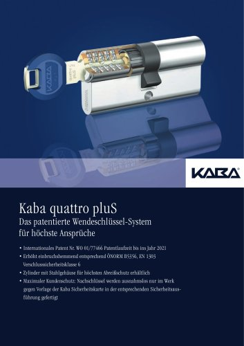 Schließzylinder - Kaba quattro pluS
