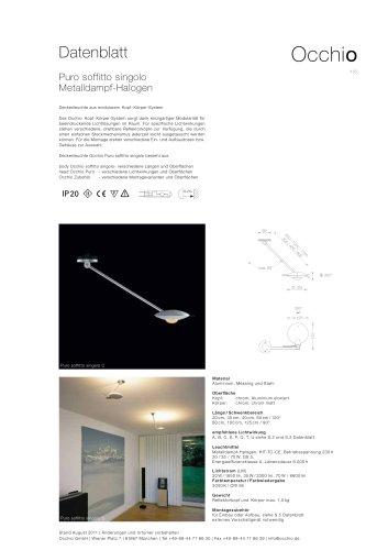 Deckenleuchte Puro soffitto singolo CDM