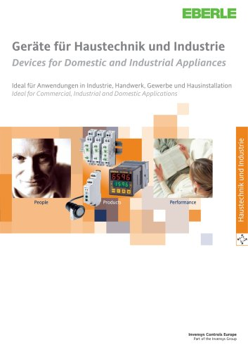 Devices for domestic and industrial appliances catalogue