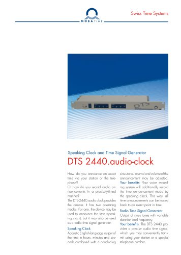 DTS 2440.audio-clock