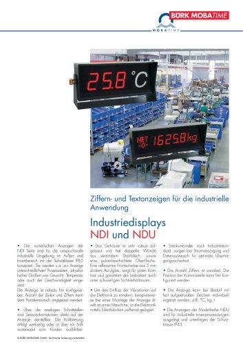 Industriedisplays NDI und NDU