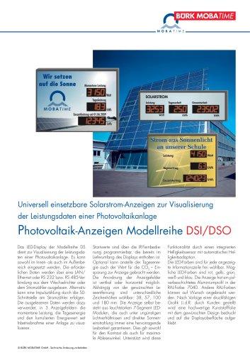 Photovoltaik-Anzeigen Modellreihe DSI/DSO