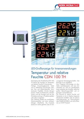 Temperatur und relative Feuchte CDN 100 TH
