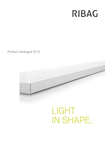 Product Catalogue 12/13 - LIGHT IN SHAPE.