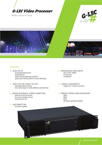 G-LEC Video Processor