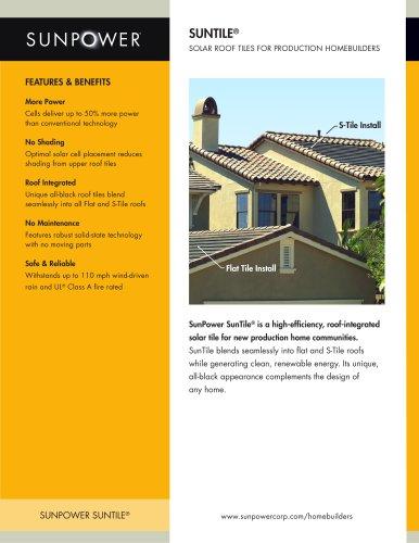 Residential Solar Roof Tiles