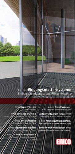 emco Einbau-, Reinigungs- und Pflegehinweise