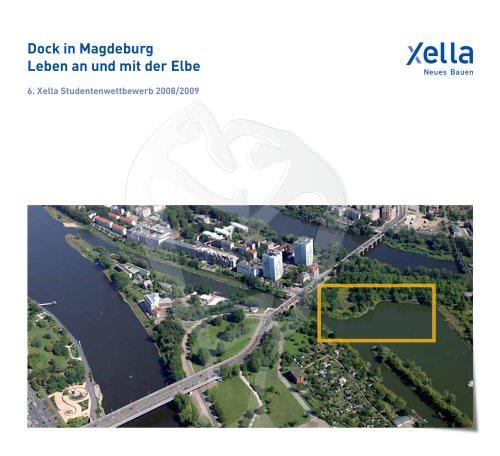 Dock in Magdeburg Leben an und mit der Elbe