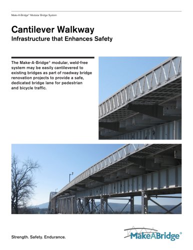 Make-A-Bridge® Modular Bridge - Cantilever Walkway