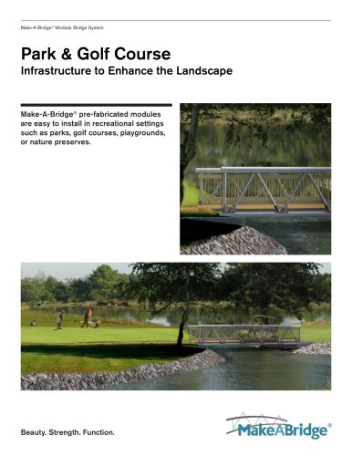 Make-A-Bridge® Modular Bridge - Park & Golf Course