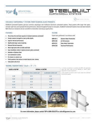 Steel built Curtainwall