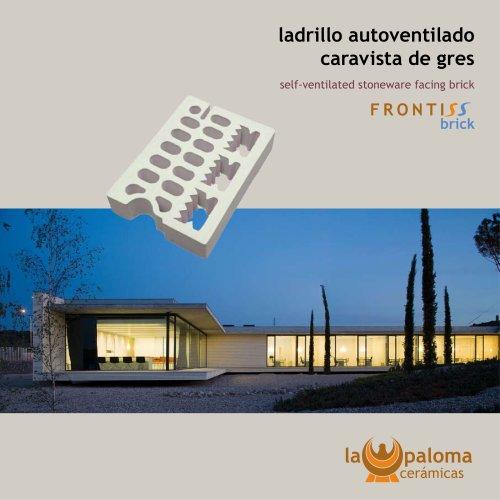 Self-ventilated facing brick: Frontiss Brick