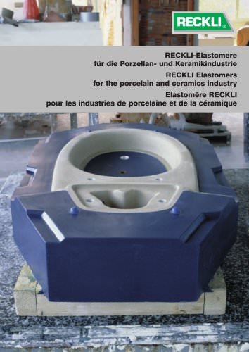 Elastomers for porcelain and ceramics industry