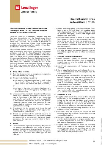General business terms and conditions