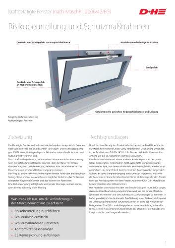 Kraftbetätigte Fenster (nach MaschRL 2006/42/EG)