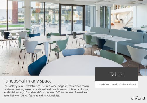 Tables Ahrend Cross, Ahrend 380, Ahrend Move-it