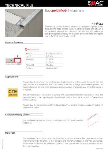 Novopeldaño® 4 Aluminum
