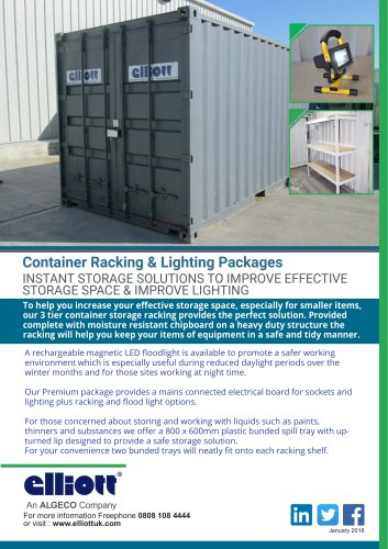 CONTAINER RACKING AND LIGHTING