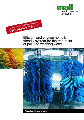 Efficient and environmentally friendly system for the treatment of polluted washing water