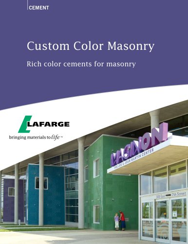 Color Cements for Masonry