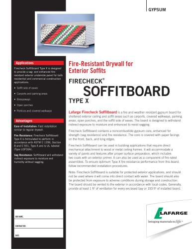 Fire-Resistant Drywall for  Exterior Soffits