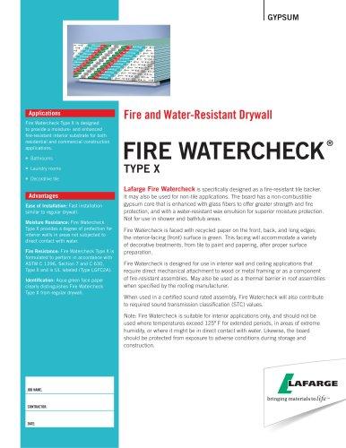 Fire WaTercheck