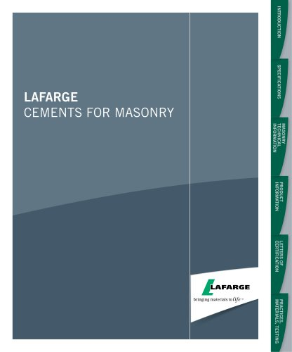 Lafarge cements for Masonry