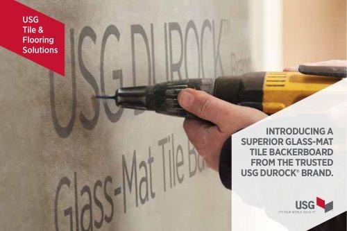 USG Durock™ Brand Glass-Mat Tile Backerboad Talking Point Card