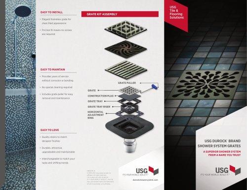 USG Durock™ Brand Shower System Grates