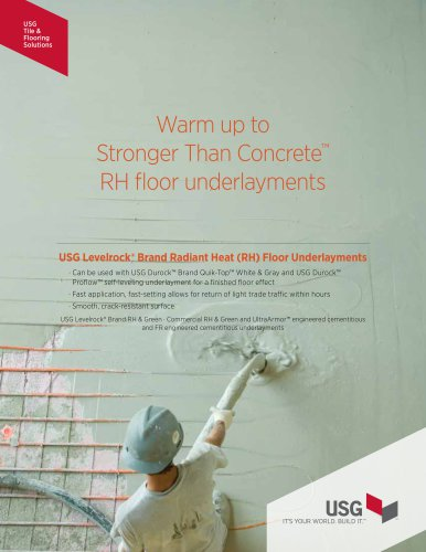 USG Levelrock® Brand RH Floor Underlayments