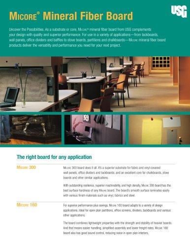 USG Micore® Mineral Fiber Board Applications
