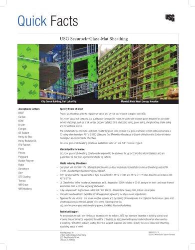 USG Securock® Brand Glass-Mat Sheathing