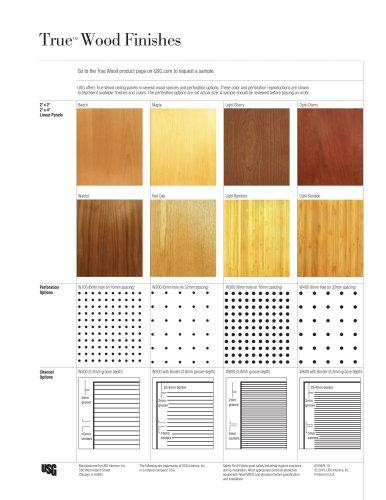 USG True™ Wood Finishes