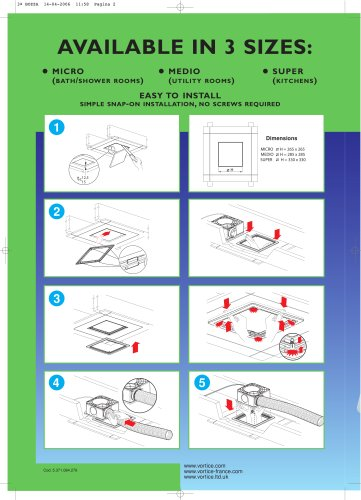 Quadro Recessed Kit Leaflet