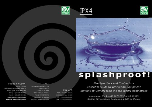 Splash proof