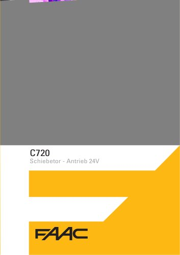 Schiebetor Antrieb C720 24V