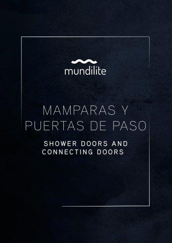 Shower doors and connecting doors
