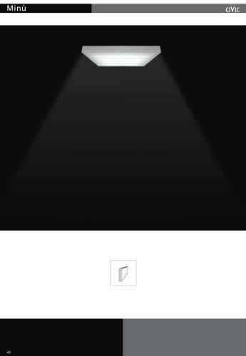 Fluorescent luminaire MINU'