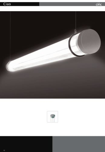 Fluorescent suspended luminaire CIAO