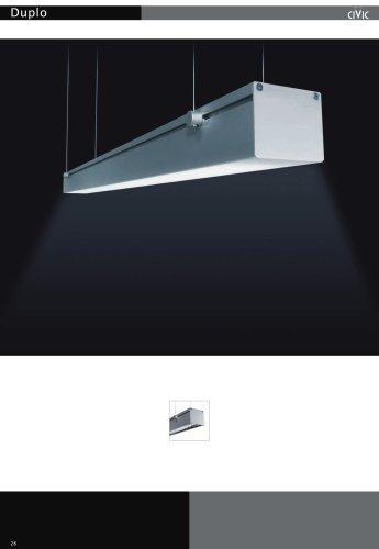 Fluorescent suspended luminaire DUPLO