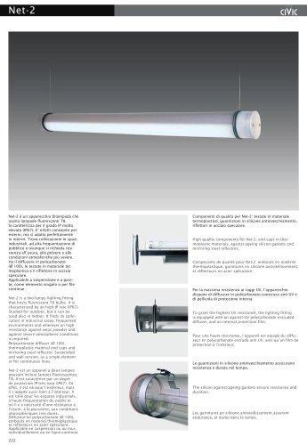Fluorescent suspended luminaire NET-2