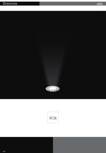Recessed exterior floor light DIONISIO